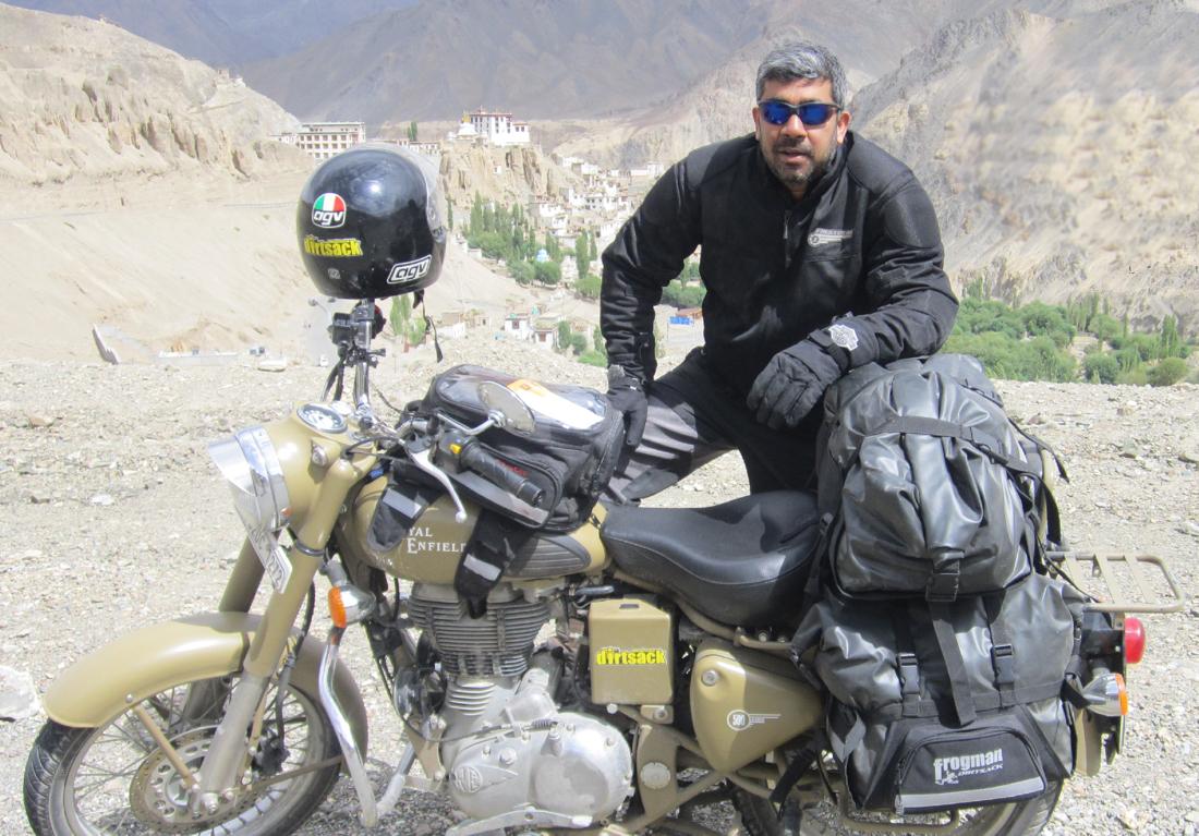 Testing prototypes of the Dirtsack Frogman range in Ladakh